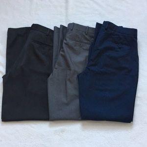 Men's 34x32 dress pants BUNDLE